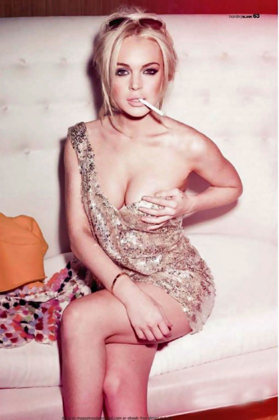 Lindsay Lohan Hot and Sexy in Blank Magazine (May 2011)