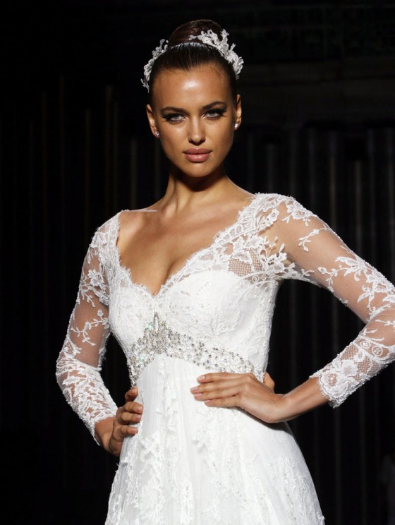 Irina Shayk Pronovias Barcelona in Spain