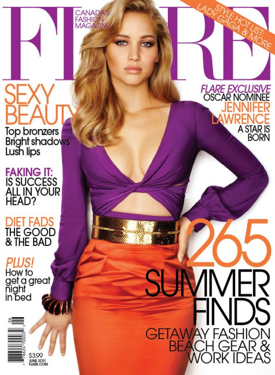 Jennifer Lawrence - Flare Magazine Cover (June 2011)