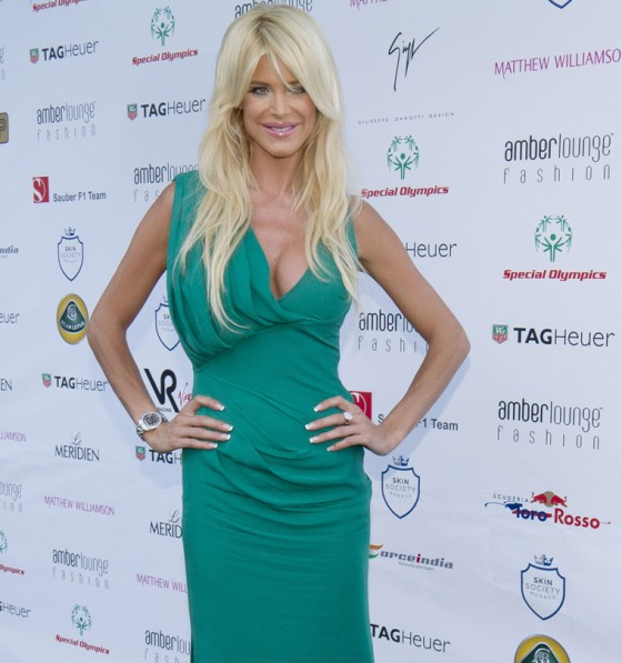 Victoria Silvstedt - Cleavage Candids at Amber Lounge Fashion Soiree, Monaco