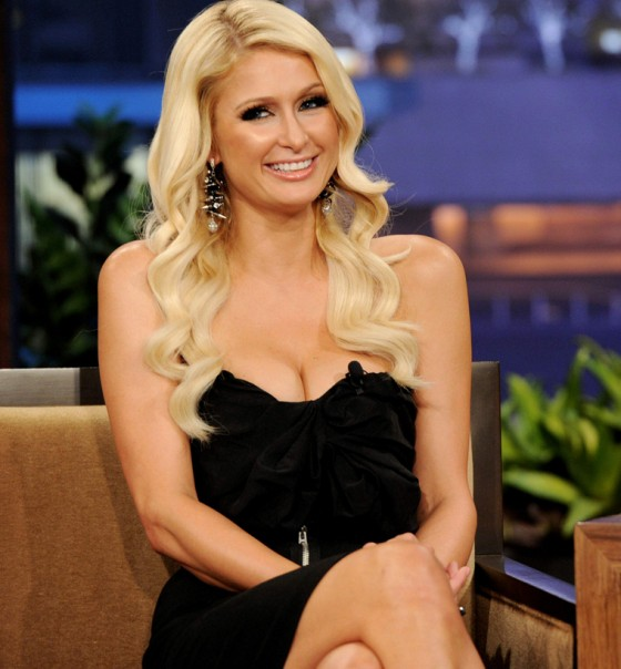 "Paris Hilton Cleavage and Leggy Candids at ""The Tonight Show with Jay Leno"" in Los Angeles"