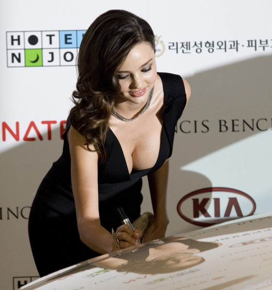 Miranda Kerr – CLeavage Candids at Kia Press Conference in Seoul