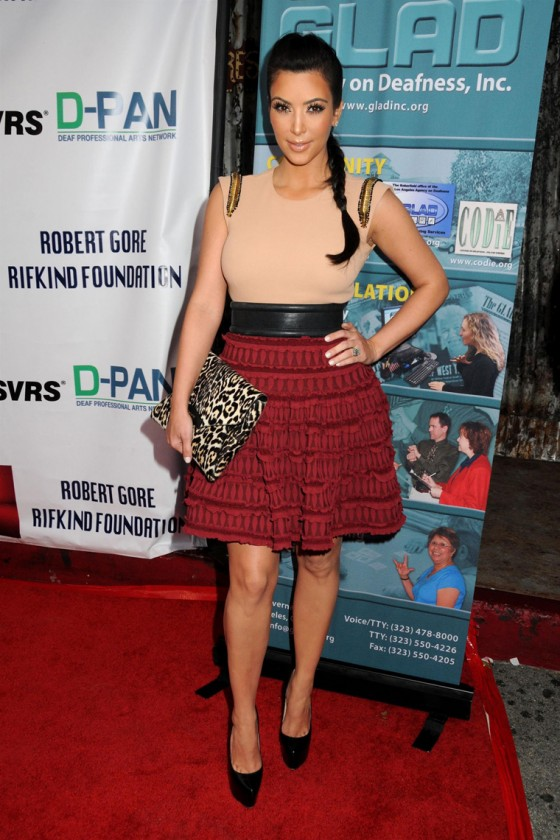 Kim Kardashian - Leggy Candids at 9th Annual GLAD Benefit Extravaganza