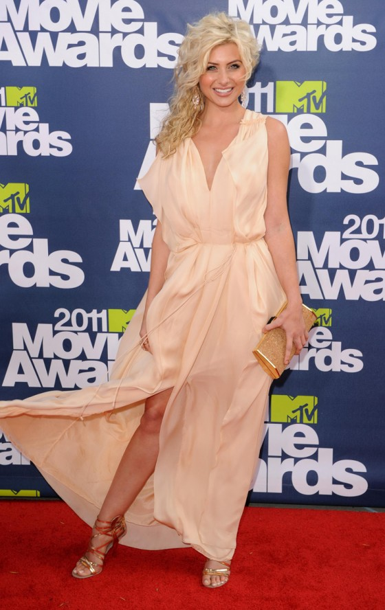 Aly Michalka - Leggy Candids at 2011 MTV Movie Awards in LA