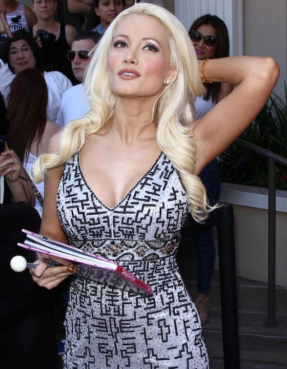 Holly Madison signs copies of her new book The Show Girl Next Door