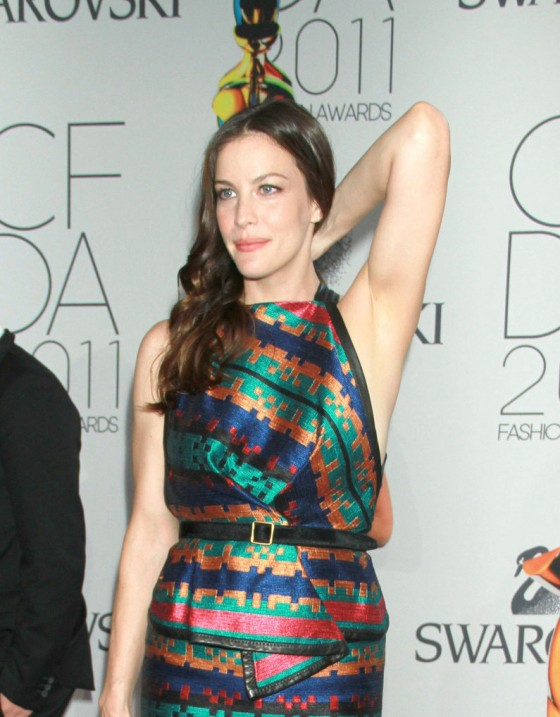Liv Tyler at 2011 CFDA Fashion Awards in NY