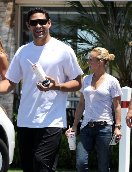 Hayden Panettiere at In-N-Out Burger in Laguna Hills