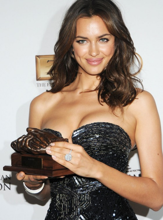 Irina Shayk - Big Cleavage at the 9th annual Russian Heritage Festival