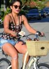 Vanessa Hudgens - Leggy Candids on Bike