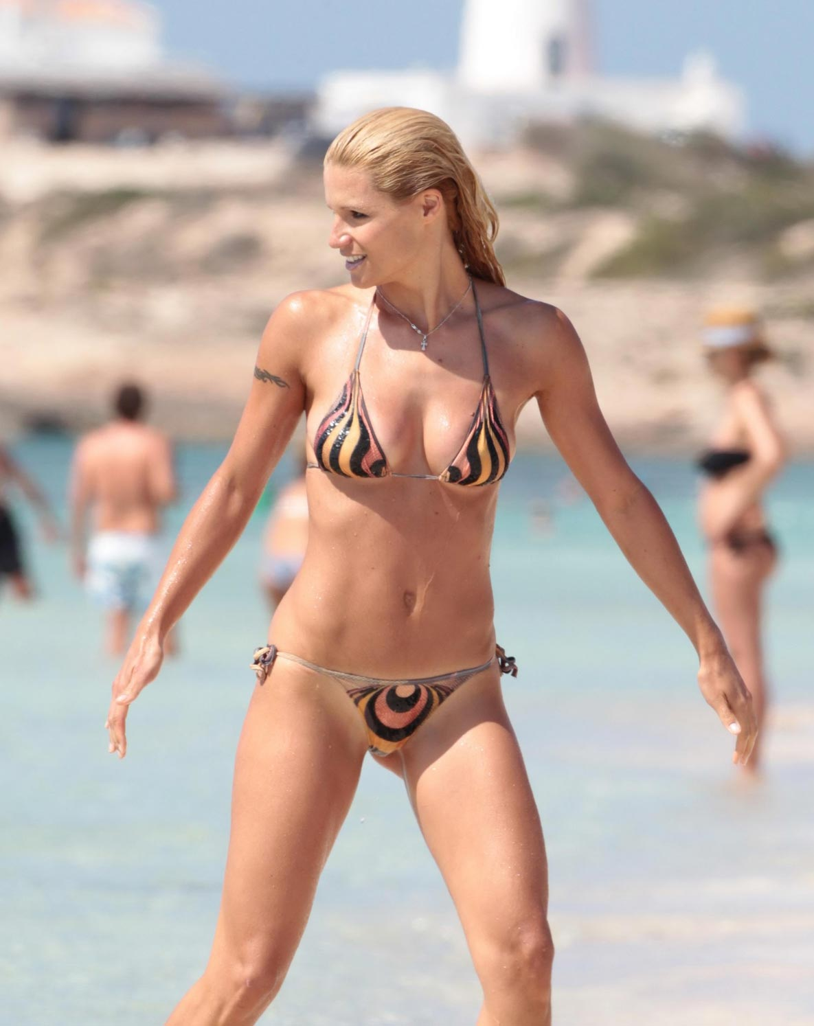 The same. michelle hunziker bikini good words