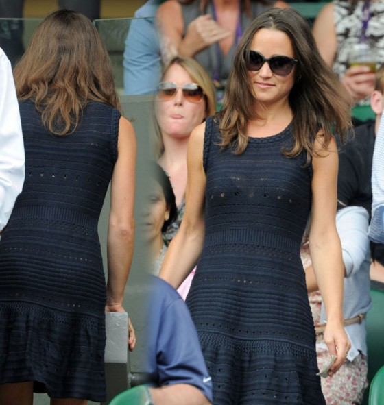 Pippa Middleton at Wimbledon 2011 for Men's Semis