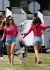 Rachel Bilson in jeans shorts on the set of The To Do List