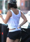 Vanessa Hudgens – Black Shorts Candids in Hollywood Hills