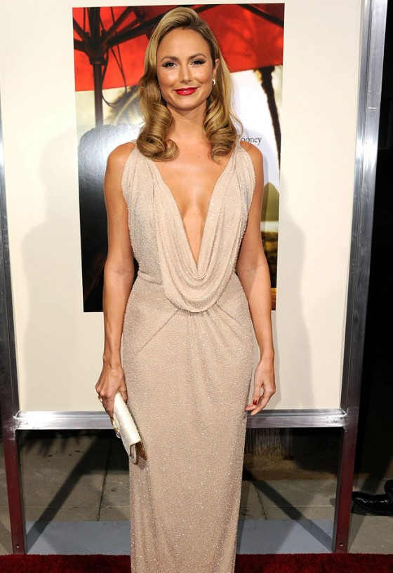 Stacey Keibler - Cleavage At 'The Descendants' Premiere in LA