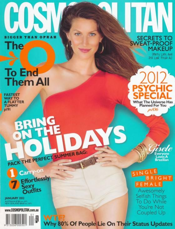 Gisele Bundchen - Cosmopolitan Australia January 2012