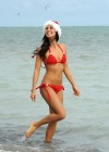 Leilani Dowding - Red Bikini in Miami