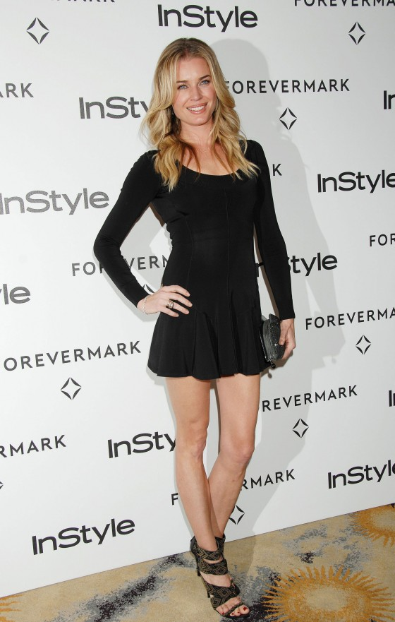 Rebecca Romijn - Leggy in Short dress at Forevermark And InStyle Golden Globes Event in Beverly Hills