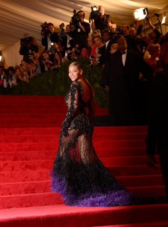 "Beyonce Knowles In Hot dress at ""Schiaparelli And Prada: Impossible Conversations"" Costume Institute Gala at the Metropolitan Museum of Art"