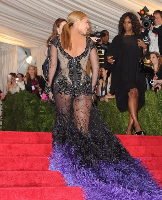 Beyonce in hot see-through dress at 2012 Metropolitan Museum of Art Costume Gala NYC