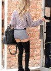 Ashley Tisdale shows her legs in shorts at Millennium Dance Complex in North Hollywood