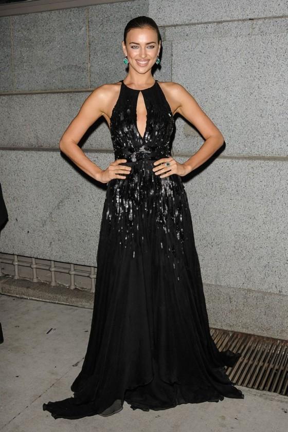 Irina Shayk cleavage at Angel Ball 2012 in NY