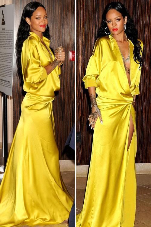 Rihanna 2014 : Rihanna-GRAMMY-2014-Clive-Davis-Pre-Grammy-3