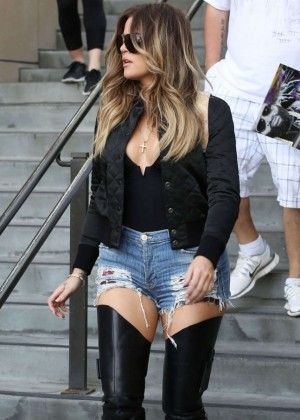 Khloe-Kardashian-Photos -Boots-and-Daisy-Dukes