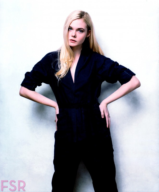 Elle Fanning by Jeff Vespa 'The Art of Discovery: Hollywood Stars Review Their Inspirations' 2014