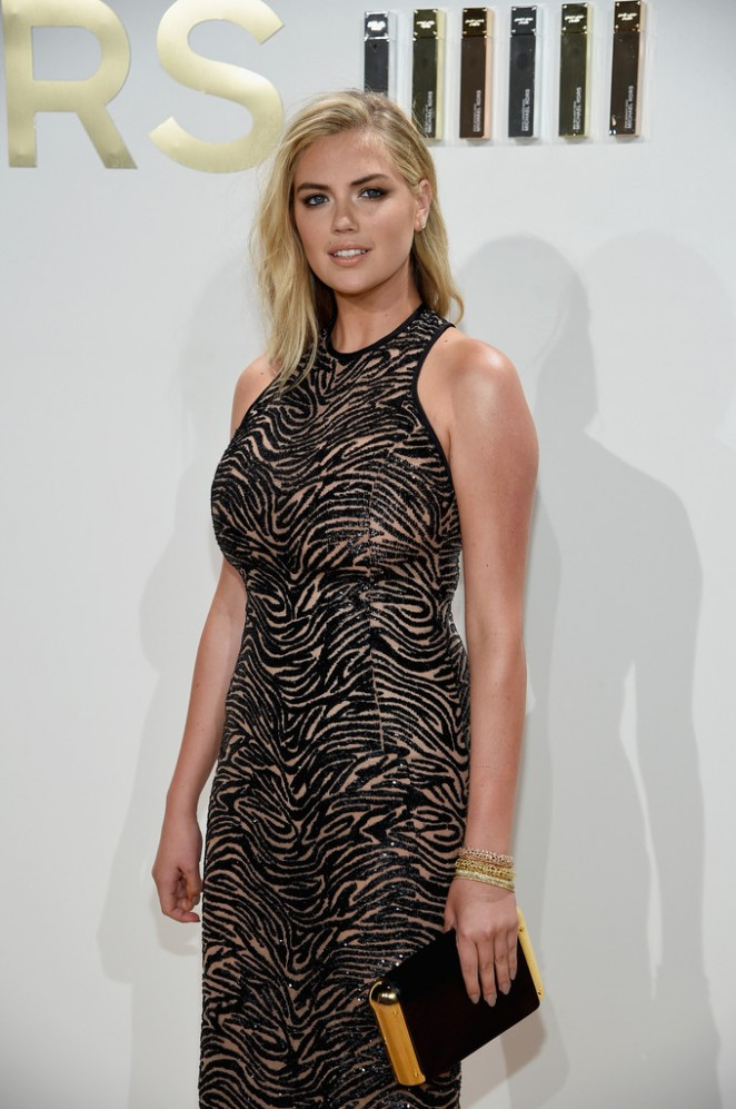 Kate Upton – New Gold Collection Fragrance Launch Hosted by Michael Kors in NYC