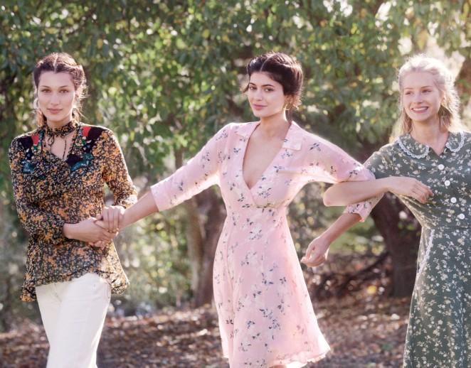 Bella Hadid, Kylie Jenner and Lottie Moss – Vogue Magazine (December 2015)