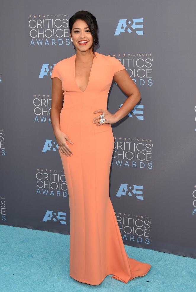 Gina Rodriguez 2016 : Gina Rodriguez: 2016 Critics Choice Awards