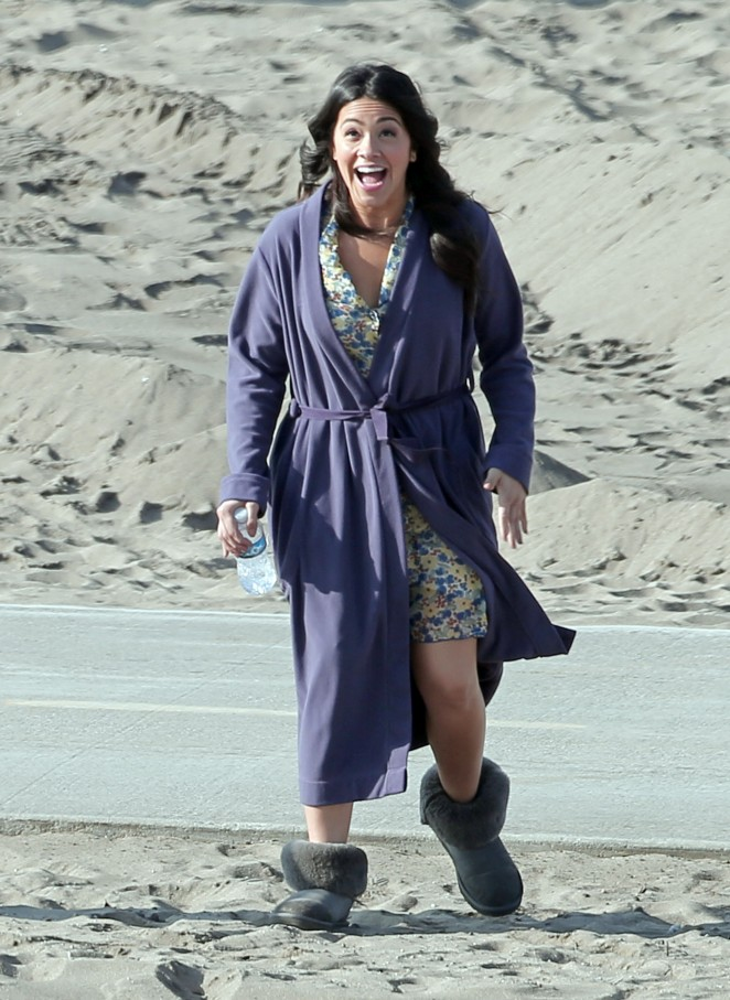 Gina Rodriguez – On the set of 'Jane the Virgin' in Los Angeles