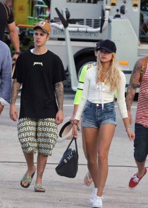 Hailey in Jeans Shorts 1