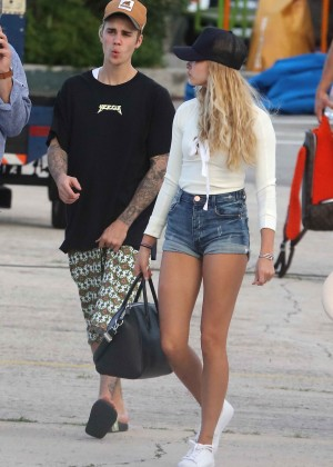 Hailey in Jeans Shorts 7
