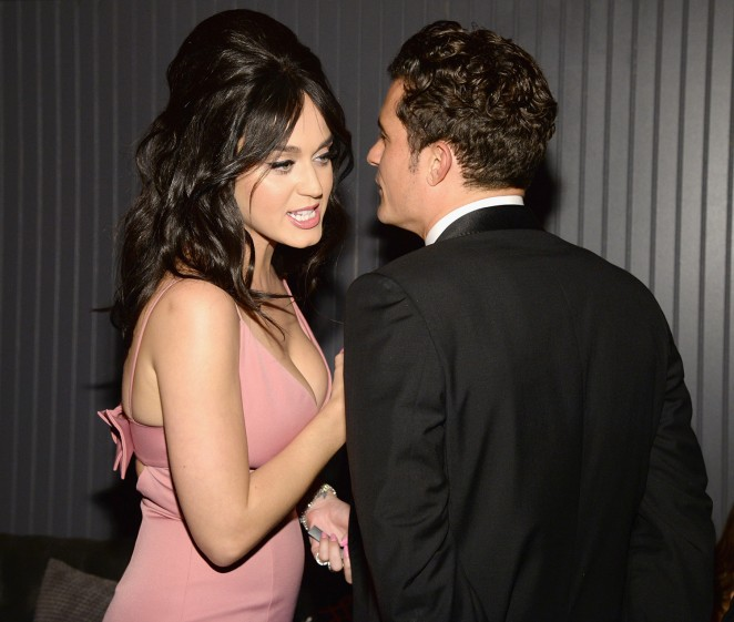 Katy Perry and Orlando Bloom at Golden Globes Afterparty 2016 in LA