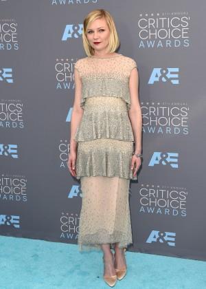 Kirsten Dunst: 2016 Critics Choice Awards2