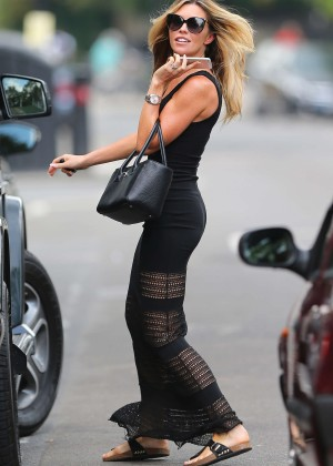 Abbey Clancy hot in black dress-11