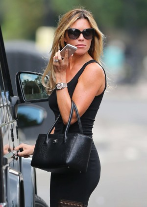 Abbey Clancy hot in black dress-12