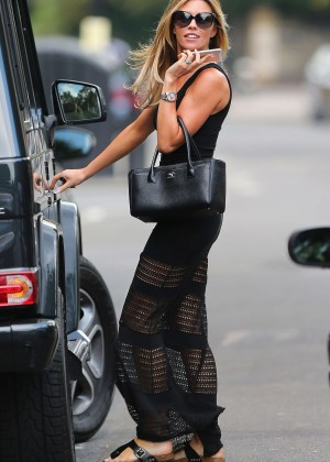 Abbey Clancy hot in black dress-13