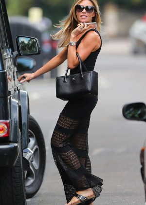 Abbey Clancy hot in black dress-17