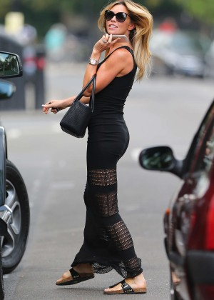 Abbey Clancy hot in black dress-18