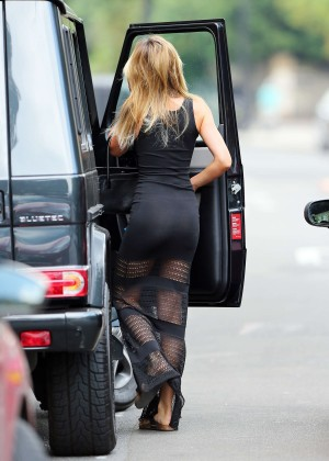 Abbey Clancy hot in black dress-19