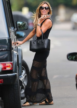 Abbey Clancy hot in black dress-21