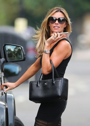 Abbey Clancy hot in black dress-22