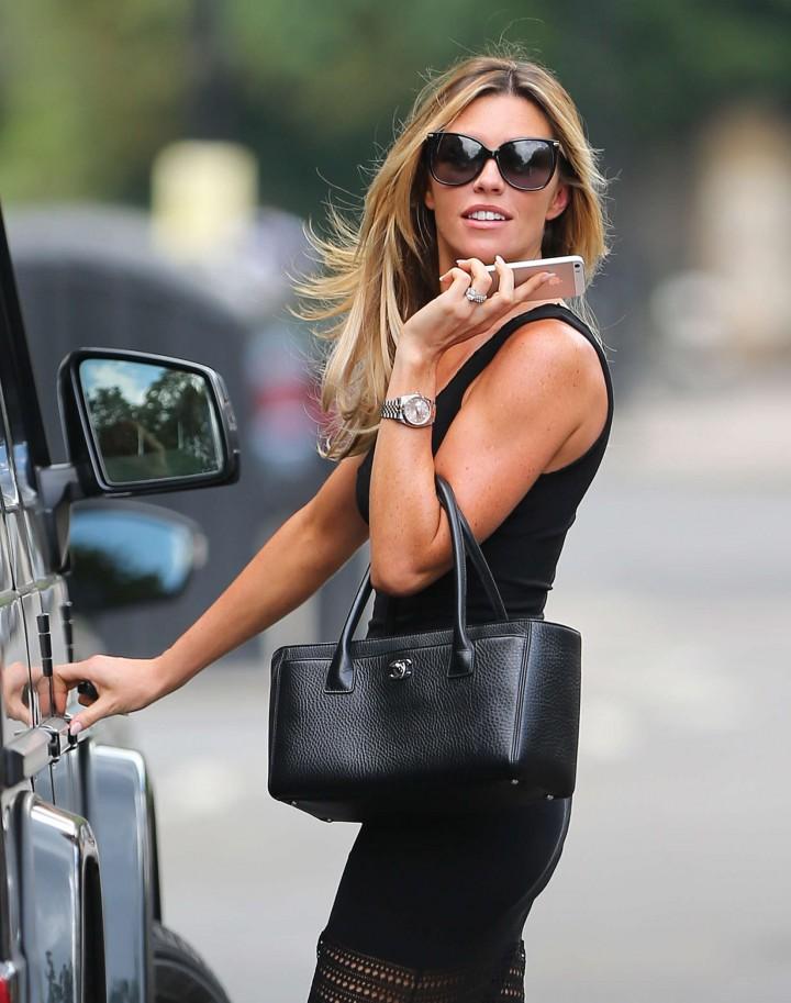 Abbey Clancy Hot In Black Dress 22 Gotceleb