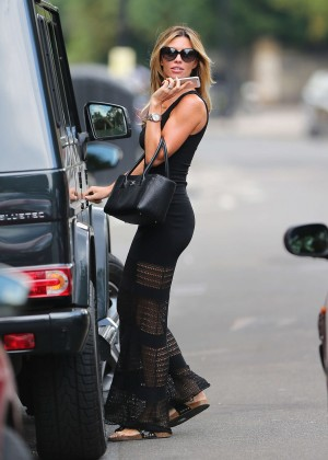 Abbey Clancy hot in black dress-25