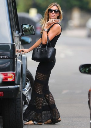 Abbey Clancy hot in black dress-27