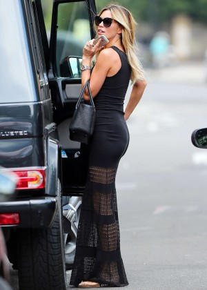 Abbey Clancy hot in black dress-29