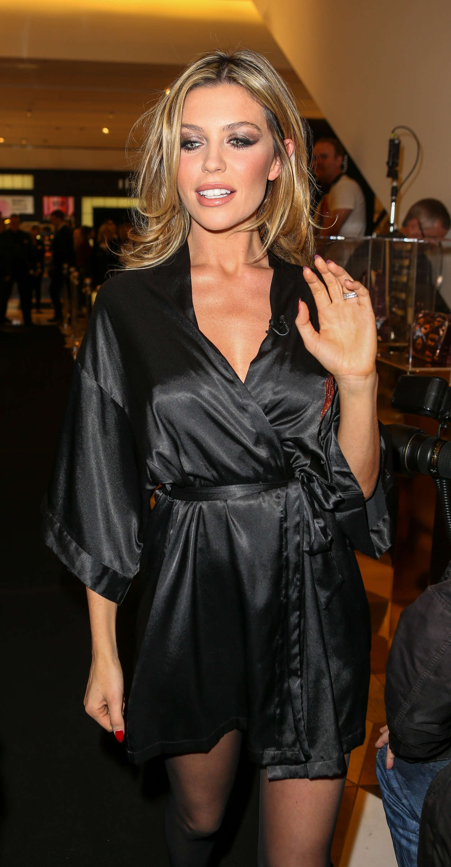 Abbey Clancy In Black Mini Dress 17 Gotceleb