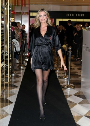 Abbey Clancy in Black Dress at Selfridges Store in Manchester